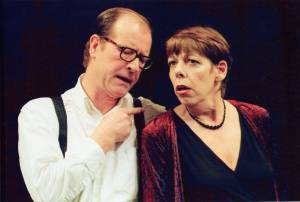 Alan Howard as Man and Frances de la Tour as Woman