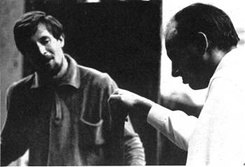 Alan in rehearsal for Burgundy in 'Henry V'