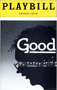 Playbill for 'Good' at The Booth Theatre