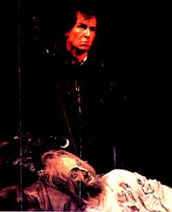 Now is the winter.... - Richard of Gloucester crouches over the murdered Henry VI.