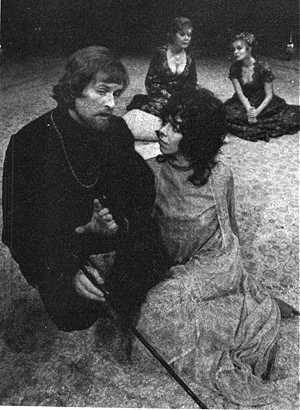 Alan as Dorimant, with Frances de la Tour