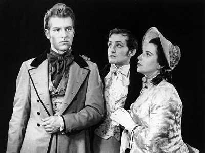 Alan as Pip in Great Expectations, with Charles Kay